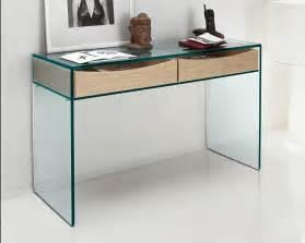Tonelli gulliver clear glass desk console table glass desks
