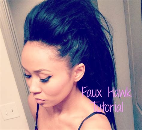 mohawk hairstyles ll eaving hair long at back of head quick and easy faux hawk for long hair beauty hair
