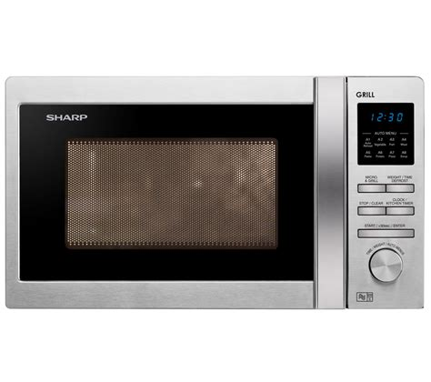 buy sharp r722stm microwave with grill stainless steel free delivery currys