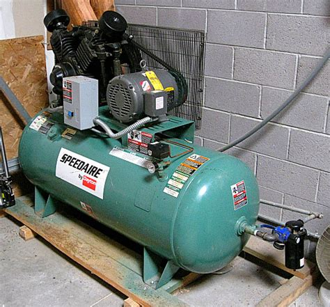 used speedaire 1wd68 air compressor frame shop equipment