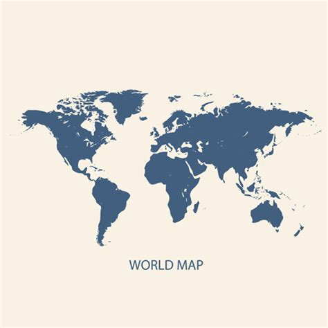 simple world map image simple world map vectors graphcs 01 vector maps free