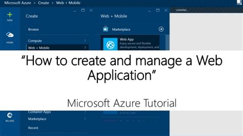 tutorial net web application create and manage a web application on azure step to step