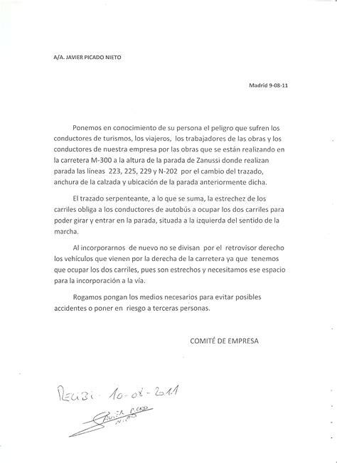 carta formal queja unas cartas y una queja el intercambiador