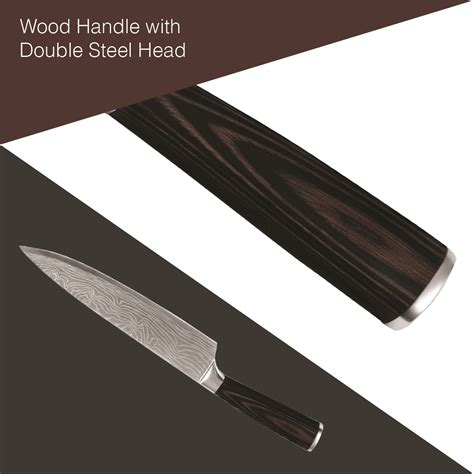 bladed knife drop shipping 1 pc wooden gripped stainless steel