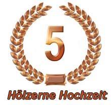 Hochzeit 5 Jahre by H 246 Lzerne Hochzeit Spr 252 Che 5 Hochzeitstag Gl 252 Ckw 252 Nsche