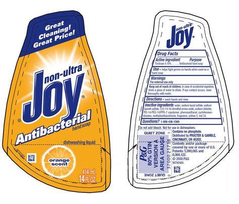 label design for dishwashing liquid non ultra joy
