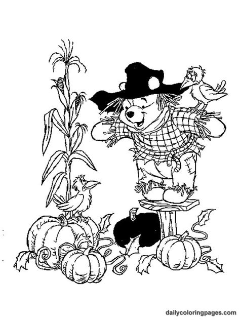 winnie the pooh fall coloring pages kids coloring pages