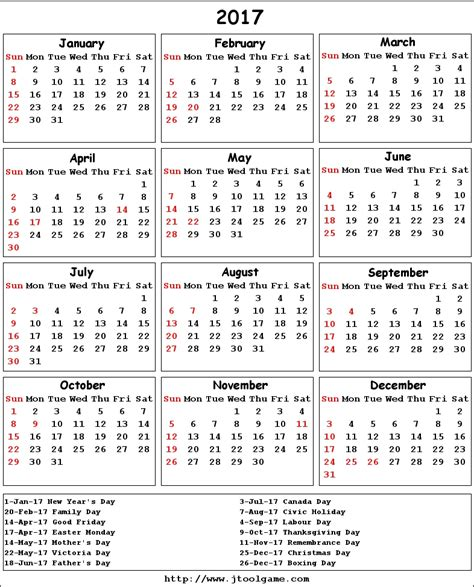printable monthly calendar with canadian holidays 2017 calendar canada printable 2017 calendars