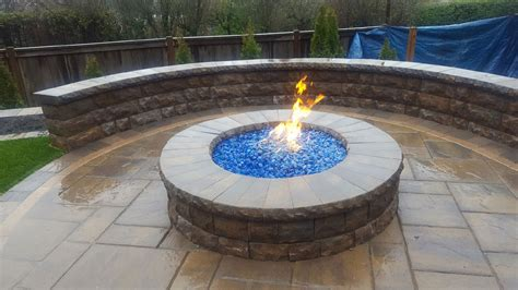 pit on pavers paver pit patio and sitting wall expert paver company