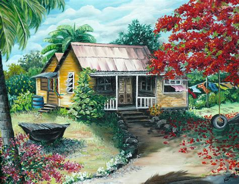 Caribbean Home Decor by Trinidad Life Painting By Karin Dawn Kelshall Best