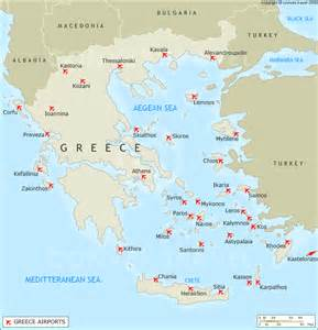 Airports In Airports In Greece Map