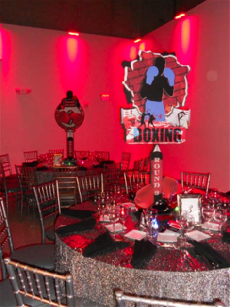 boxing theme decorations mitzvah inspire boxing mitzvahmarket