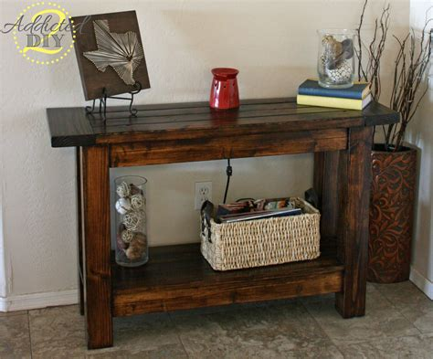 diy project table white pottery barn inspired console table diy projects