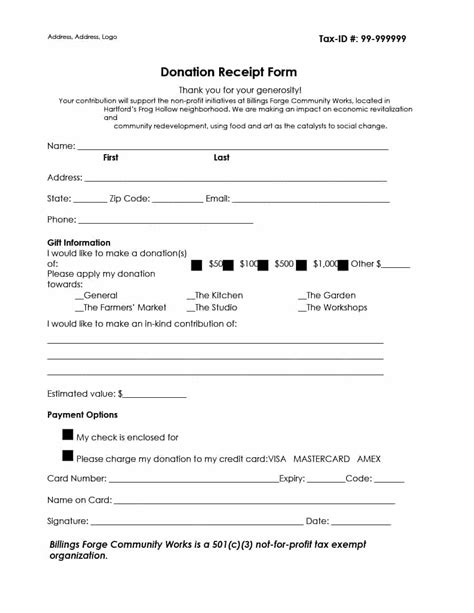 non profit donation receipt form template 40 donation receipt templates letters goodwill non profit