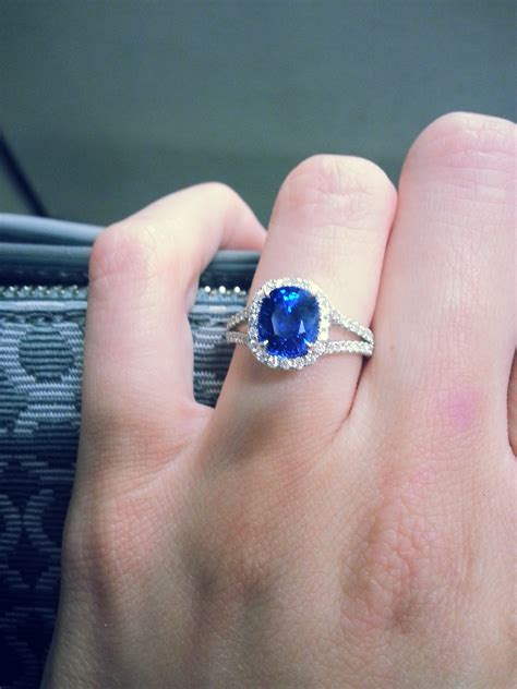Blue Sapphire Safir 3 2ct choice between 2 sapphire rings pics weddingbee