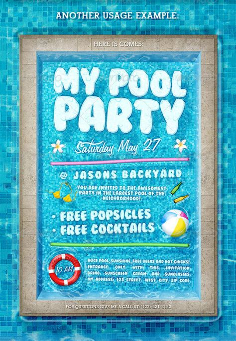 Pool Party Invitation Template 38 Free Psd Format Download Free Premium Templates Pool Invitations Templates Free