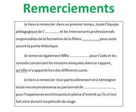 Exemple De Lettre De Remerciement Pdf 10 Exemples Remerciement Pfe M 233 Moire Ou Rapport De Stage Outils Livres Exercices Et Vid 233 Os