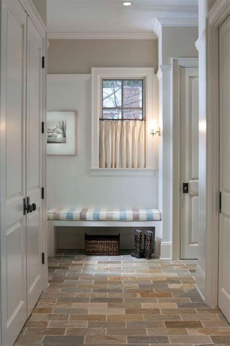 benjamin moore beach glass bathroom mudroom bench cottage laundry room benjamin moore