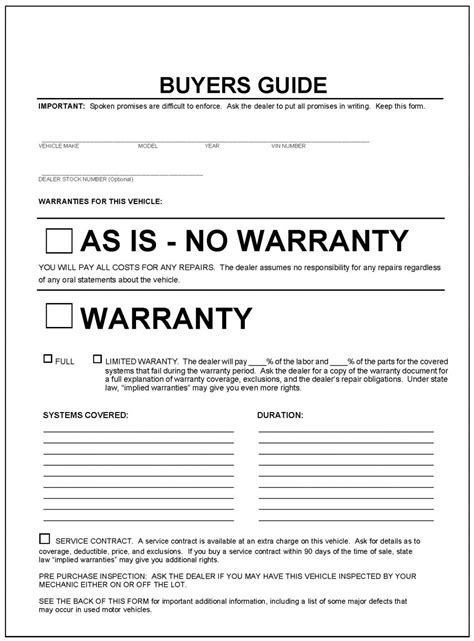 Buying A Used Car Becomes Slightly Less Daunting Next Year Vehicle Buyers Order Template