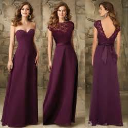 2016 a line long bridesmaids dresses backless cheap