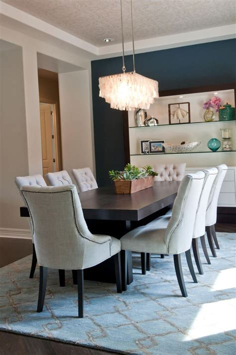 miami elegant end tables dining room transitional with dark wood navy accent walls and tables on pinterest