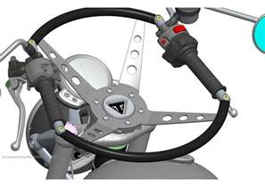 Steering Wheel For Motorcycle Triumph Announce Motorcycle Steering Wheel Mcn