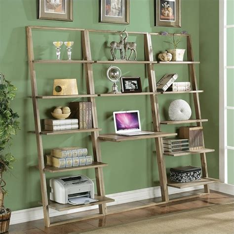 riverside furniture lean living leaning bookcase in smoky driftwood lean living leaning desk in smoky driftwood 27730