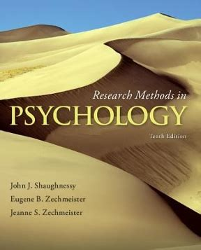Psychology 10th Edition research methods in psychology 10th edition rent