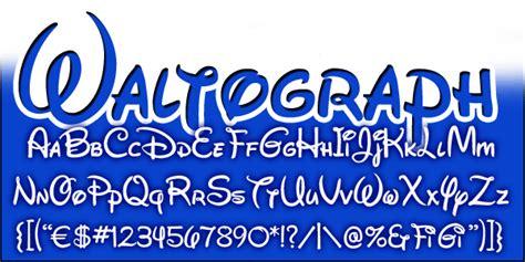 dafont waltograph mickeyavenue com disney fonts waltograph