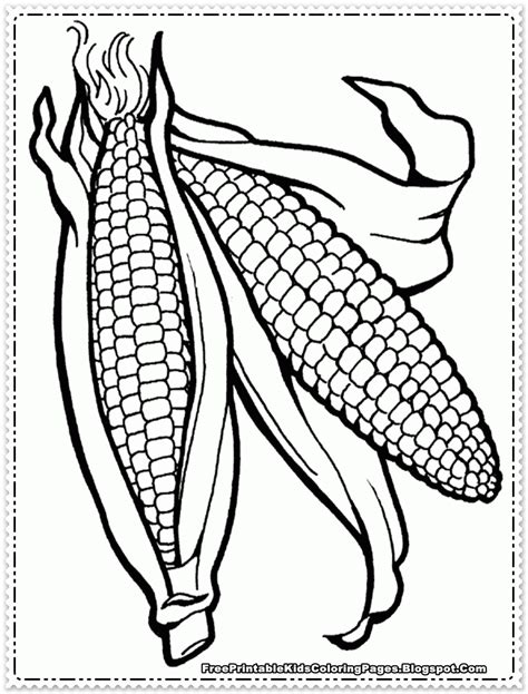 pages in corn coloring pages printable coloring home