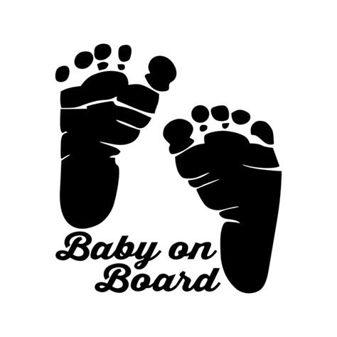 baby on board template baby on board foot graphics design svg by