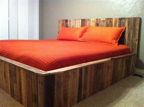 Bouwtekening Pallet Bed by Bedden Zelf Maken Pallets Steigerhout En Buizen