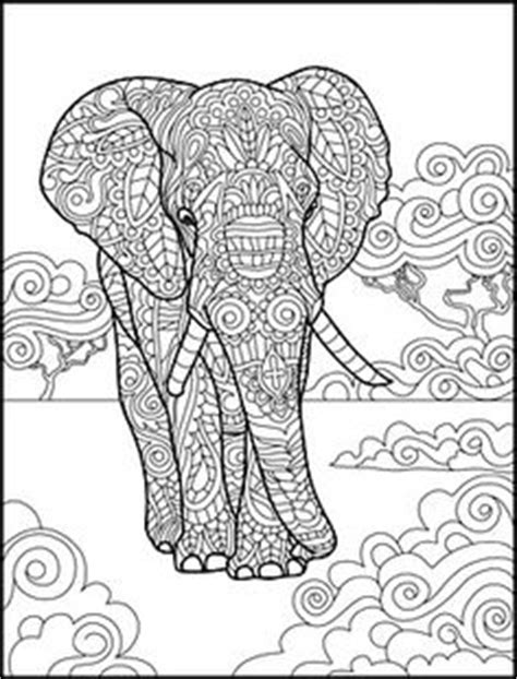 stress relief coloring pages elephant animal the animal coloring book 50 cool design