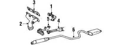 Ford Taurus Exhaust System Diagram Parts 174 Ford Taurus Exhaust Components Oem Parts