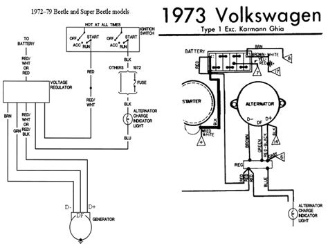 1974 vw alternator wiring wiring diagram with