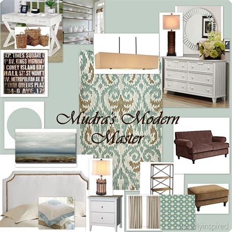 Blue And Brown Decor by Master Bedroom Moodboard Archives Cleverly Inspired