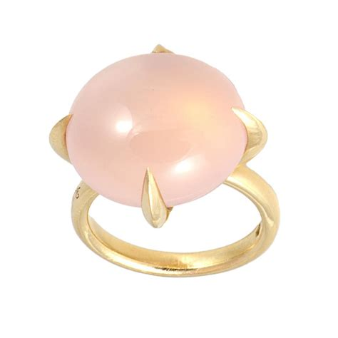 veleno pomellato anello veleno in oro rosa e quarzo rosa mis 12 pomellato