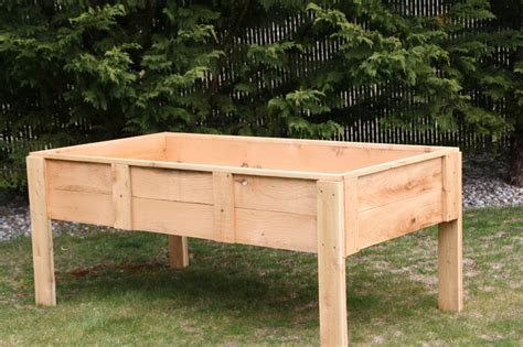 Raised Garden Bed Plans On Legs Woodideas
