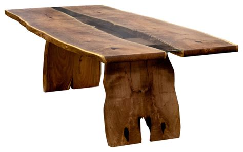 modern wood slab dining table wood slab table contemporary dining tables by earl