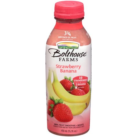 bolt house bolthouse farms fruit smoothie strawberry banana 15 2 fl oz 450 ml food
