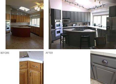 updating oak kitchen cabinets before and after updating oak cabinets before and after before after