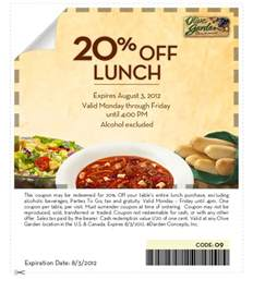 olive garden 20 lunch coupon the pennywisemama