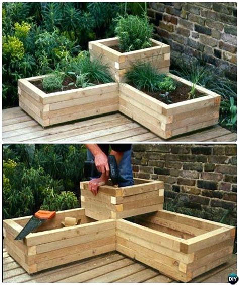 diy herb garden box diy herb planter box eatatjacknjills com