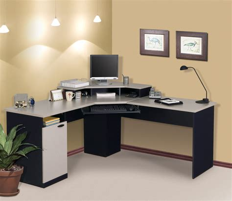 Corner Desks For Home Office Bestar Hton Corner Computer Desk