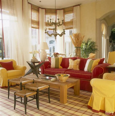 home design decor 2014 classic interior living room design with yellow and red
