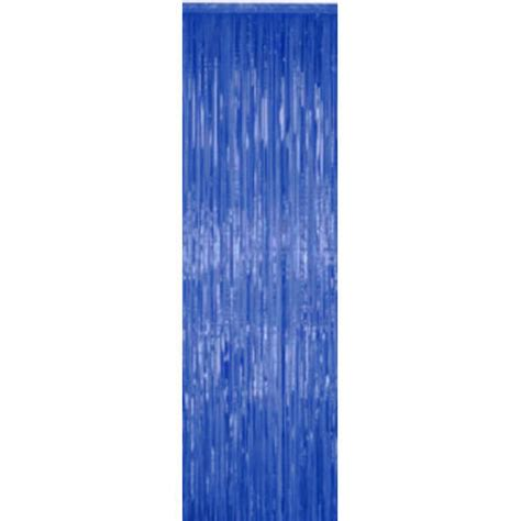 Metallic Blue Curtains with Blue Metallic Curtains 3 X8 Blue Fringe Metallic Curtians