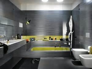Exceptionnel Mosaique Marocaine Salle De Bain #4: Revetement-mural-salle-de-bain-carrelage-gris-ardoise.jpg