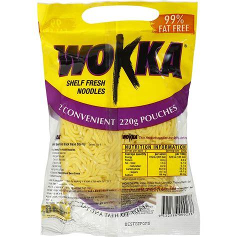 wokka noodles hokkien shelf fresh 440g woolworths