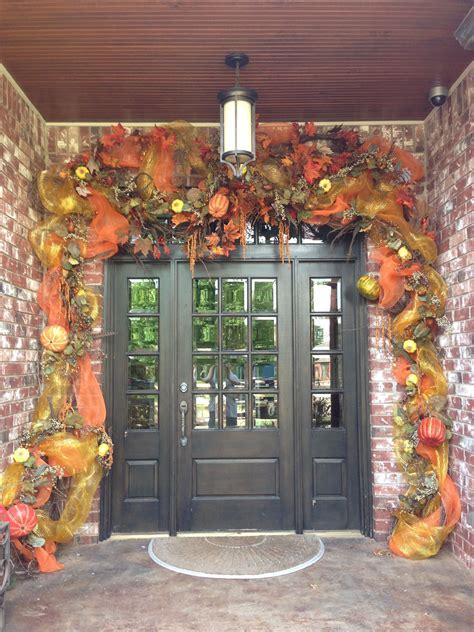 tabulous design fall door decorations