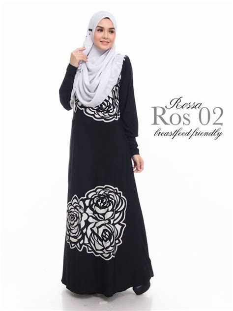 Baju Wanita Murah Pakaiam Wanita Dress Disy Black norzi beautilicious house jubah rossa limited edition